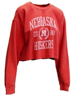 Womens Nebraska Huskers Dyed Crop Nebraska Cornhuskers, Nebraska  Crew, Huskers  Crew, Nebraska  Ladies, Huskers  Ladies, Nebraska  Ladies Sweatshirts, Huskers  Ladies Sweatshirts, Nebraska  Ladies Tops, Huskers  Ladies Tops, Nebraska Womens Nebraska Huskers Dyed Crop, Huskers Womens Nebraska Huskers Dyed Crop