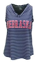 Womens Nebraska Nancy Striped Tank Nebraska Cornhuskers, Nebraska  Ladies, Huskers  Ladies, Nebraska  Tank Tops, Huskers  Tank Tops, Nebraska  Ladies T-Shirts, Huskers  Ladies T-Shirts, Nebraska  Ladies Tops, Huskers  Ladies Tops, Nebraska Womens Stripe Nancy Nebraska Nancy Tank , Huskers Womens Stripe Nancy Nebraska Nancy Tank
