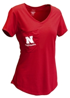 Womens Nebraska Unwind Pocket Tee Nebraska Cornhuskers, Nebraska  Ladies, Huskers  Ladies, Nebraska  Short Sleeve, Huskers  Short Sleeve, Nebraska  Ladies T-Shirts, Huskers  Ladies T-Shirts, Nebraska Womens Nebraska Unwind Pocket Tee, Huskers Womens Nebraska Unwind Pocket Tee