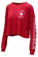 Womens University of Nebraska Cropped Thermal Nebraska Cornhuskers, Nebraska  Ladies, Huskers  Ladies, Nebraska  Long Sleeve, Huskers  Long Sleeve, Nebraska  Ladies Tops, Huskers  Ladies Tops, Nebraska  Ladies T-Shirts, Huskers  Ladies T-Shirts, Nebraska Womens University of Nebraska Cropped Thermal, Huskers Womens University of Nebraska Cropped Thermal