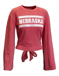 Ladies Vintage Nebraska Tie Back Haachi Top Nebraska Cornhuskers, Nebraska  Ladies T-Shirts, Huskers  Ladies T-Shirts, Nebraska  Ladies, Huskers  Ladies, Nebraska  Long Sleeve, Huskers  Long Sleeve, Nebraska Womens Vintage Nebraska Back Tie Haachi LS Tee, Huskers Womens Vintage Nebraska Back Tie Haachi LS Tee