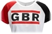 Womens White GBR Run Crop Tee - ZT-6H523