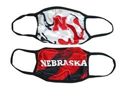 Youth Multi Color 2 Pack Husker Masks Nebraska Cornhuskers, Nebraska  Youth, Huskers  Children, Huskers  Youth, Nebraska  Children, Nebraska  Ladies Accessories, Huskers  Ladies Accessories, Nebraska Kids Nebraska Huskers 2 Pack Mask, Huskers Kids Nebraska Huskers 2 Pack Mask
