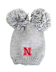 Youth Nebraska Double Pom Knit Nebraska Cornhuskers, Nebraska  Youth, Huskers  Youth, Nebraska  Kids Hats, Huskers  Kids Hats, Nebraska Youth Nebraska Double Pom Knit , Huskers Youth Nebraska Double Pom Knit