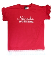 Youth Nebraska Gals Fringe Ruffle Sleeve Shirt Nebraska Cornhuskers, Nebraska  Youth, Huskers  Youth, Nebraska  Kids, Huskers  Kids, Nebraska Youth Nebraska Gals Fringe Ruffle Sleeve Shirt, Huskers Youth Nebraska Gals Fringe Ruffle Sleeve Shirt