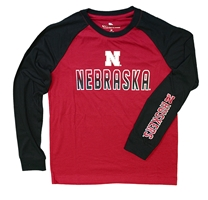 Youth Nebraska Raglan Tee Nebraska Cornhuskers, Nebraska  Kids, Huskers  Kids, Nebraska  Youth, Huskers  Youth, Nebraska Youth Nebraska Raglan Tee, Huskers Youth Nebraska Raglan Tee