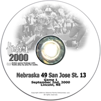 2000 Nebraska Vs San Jose Husker football, Nebraska cornhuskers merchandise, husker merchandise, nebraska merchandise, nebraska cornhuskers dvd, husker dvd, nebraska football dvd, nebraska cornhuskers videos, husker videos, nebraska football videos, husker game dvd, husker bowl game dvd, husker dvd subscription, nebraska cornhusker dvd subscription, husker football season on dvd, nebraska cornhuskers dvd box sets, husker dvd box sets, Nebraska Cornhuskers, 2000 San Jose St.