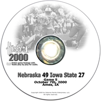 2000 Nebraska Vs Iowa St Husker football, Nebraska cornhuskers merchandise, husker merchandise, nebraska merchandise, nebraska cornhuskers dvd, husker dvd, nebraska football dvd, nebraska cornhuskers videos, husker videos, nebraska football videos, husker game dvd, husker bowl game dvd, husker dvd subscription, nebraska cornhusker dvd subscription, husker football season on dvd, nebraska cornhuskers dvd box sets, husker dvd box sets, Nebraska Cornhuskers, 2000 Iowa State