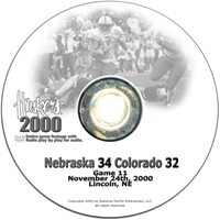 2000 Nu Vs. Colorado Dvd Husker football, Nebraska cornhuskers merchandise, husker merchandise, nebraska merchandise, nebraska cornhuskers dvd, husker dvd, nebraska football dvd, nebraska cornhuskers videos, husker videos, nebraska football videos, husker game dvd, husker bowl game dvd, husker dvd subscription, nebraska cornhusker dvd subscription, husker football season on dvd, nebraska cornhuskers dvd box sets, husker dvd box sets, Nebraska Cornhuskers, 2000 Colorado
