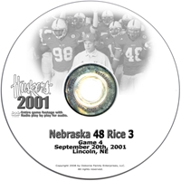 2001 Nebraska Vs Rice Husker football, Nebraska cornhuskers merchandise, husker merchandise, nebraska merchandise, nebraska cornhuskers dvd, husker dvd, nebraska football dvd, nebraska cornhuskers videos, husker videos, nebraska football videos, husker game dvd, husker bowl game dvd, husker dvd subscription, nebraska cornhusker dvd subscription, husker football season on dvd, nebraska cornhuskers dvd box sets, husker dvd box sets, Nebraska Cornhuskers, 2001 Rice