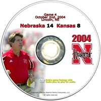 2004 Dvd Kansas Husker football, Nebraska cornhuskers merchandise, husker merchandise, nebraska merchandise, nebraska cornhuskers dvd, husker dvd, nebraska football dvd, nebraska cornhuskers videos, husker videos, nebraska football videos, husker game dvd, husker bowl game dvd, husker dvd subscription, nebraska cornhusker dvd subscription, husker football season on dvd, nebraska cornhuskers dvd box sets, husker dvd box sets, Nebraska Cornhuskers, 2004 Kansas