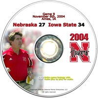2004 Dvd Iowa State Husker football, Nebraska cornhuskers merchandise, husker merchandise, nebraska merchandise, nebraska cornhuskers dvd, husker dvd, nebraska football dvd, nebraska cornhuskers videos, husker videos, nebraska football videos, husker game dvd, husker bowl game dvd, husker dvd subscription, nebraska cornhusker dvd subscription, husker football season on dvd, nebraska cornhuskers dvd box sets, husker dvd box sets, Nebraska Cornhuskers, 2004 Iowa State