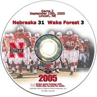 2005 Dvd Wake Forest Husker football, Nebraska cornhuskers merchandise, husker merchandise, nebraska merchandise, nebraska cornhuskers dvd, husker dvd, nebraska football dvd, nebraska cornhuskers videos, husker videos, nebraska football videos, husker game dvd, husker bowl game dvd, husker dvd subscription, nebraska cornhusker dvd subscription, husker football season on dvd, nebraska cornhuskers dvd box sets, husker dvd box sets, Nebraska Cornhuskers, 2005 Wake Forest