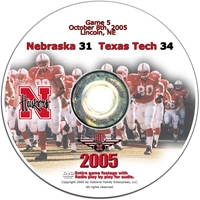 2005 Dvd Texas Tech Husker football, Nebraska cornhuskers merchandise, husker merchandise, nebraska merchandise, nebraska cornhuskers dvd, husker dvd, nebraska football dvd, nebraska cornhuskers videos, husker videos, nebraska football videos, husker game dvd, husker bowl game dvd, husker dvd subscription, nebraska cornhusker dvd subscription, husker football season on dvd, nebraska cornhuskers dvd box sets, husker dvd box sets, Nebraska Cornhuskers, 2005 Texas Tech