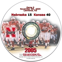 2005 Dvd Kansas Husker football, Nebraska cornhuskers merchandise, husker merchandise, nebraska merchandise, nebraska cornhuskers dvd, husker dvd, nebraska football dvd, nebraska cornhuskers videos, husker videos, nebraska football videos, husker game dvd, husker bowl game dvd, husker dvd subscription, nebraska cornhusker dvd subscription, husker football season on dvd, nebraska cornhuskers dvd box sets, husker dvd box sets, Nebraska Cornhuskers, 2005 Kansas