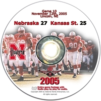 2005 Dvd Kansas State Husker football, Nebraska cornhuskers merchandise, husker merchandise, nebraska merchandise, nebraska cornhuskers dvd, husker dvd, nebraska football dvd, nebraska cornhuskers videos, husker videos, nebraska football videos, husker game dvd, husker bowl game dvd, husker dvd subscription, nebraska cornhusker dvd subscription, husker football season on dvd, nebraska cornhuskers dvd box sets, husker dvd box sets, Nebraska Cornhuskers, 2005 Kansas State
