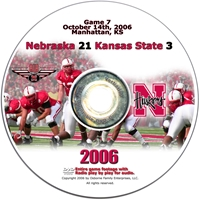 2006 Dvd Kansas State Husker football, Nebraska cornhuskers merchandise, husker merchandise, nebraska merchandise, nebraska cornhuskers dvd, husker dvd, nebraska football dvd, nebraska cornhuskers videos, husker videos, nebraska football videos, husker game dvd, husker bowl game dvd, husker dvd subscription, nebraska cornhusker dvd subscription, husker football season on dvd, nebraska cornhuskers dvd box sets, husker dvd box sets, Nebraska Cornhuskers, 2006 Kansas State