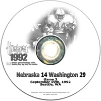 1992 Washington Husker football, Nebraska cornhuskers merchandise, husker merchandise, nebraska merchandise, nebraska cornhuskers dvd, husker dvd, nebraska football dvd, nebraska cornhuskers videos, husker videos, nebraska football videos, husker game dvd, husker bowl game dvd, husker dvd subscription, nebraska cornhusker dvd subscription, husker football season on dvd, nebraska cornhuskers dvd box sets, husker dvd box sets, Nebraska Cornhuskers, 1992 Washington