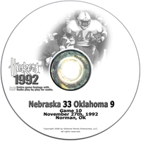 1992 Oklahoma Husker football, Nebraska cornhuskers merchandise, husker merchandise, nebraska merchandise, nebraska cornhuskers dvd, husker dvd, nebraska football dvd, nebraska cornhuskers videos, husker videos, nebraska football videos, husker game dvd, husker bowl game dvd, husker dvd subscription, nebraska cornhusker dvd subscription, husker football season on dvd, nebraska cornhuskers dvd box sets, husker dvd box sets, Nebraska Cornhuskers, 1992 Oklahoma