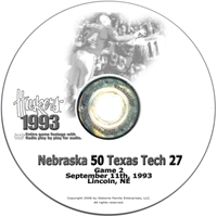 1993 Texas Tech Husker football, Nebraska cornhuskers merchandise, husker merchandise, nebraska merchandise, nebraska cornhuskers dvd, husker dvd, nebraska football dvd, nebraska cornhuskers videos, husker videos, nebraska football videos, husker game dvd, husker bowl game dvd, husker dvd subscription, nebraska cornhusker dvd subscription, husker football season on dvd, nebraska cornhuskers dvd box sets, husker dvd box sets, Nebraska Cornhuskers, 1993 Texas Tech