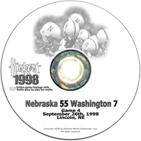 1998 Washington Husker football, Nebraska cornhuskers merchandise, husker merchandise, nebraska merchandise, nebraska cornhuskers dvd, husker dvd, nebraska football dvd, nebraska cornhuskers videos, husker videos, nebraska football videos, husker game dvd, husker bowl game dvd, husker dvd subscription, nebraska cornhusker dvd subscription, husker football season on dvd, nebraska cornhuskers dvd box sets, husker dvd box sets, Nebraska Cornhuskers, 1998 Washington
