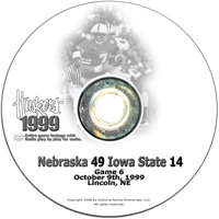 1999 Iowa State Husker football, Nebraska cornhuskers merchandise, husker merchandise, nebraska merchandise, nebraska cornhuskers dvd, husker dvd, nebraska football dvd, nebraska cornhuskers videos, husker videos, nebraska football videos, husker game dvd, husker bowl game dvd, husker dvd subscription, nebraska cornhusker dvd subscription, husker football season on dvd, nebraska cornhuskers dvd box sets, husker dvd box sets, Nebraska Cornhuskers, 1999 Iowa State