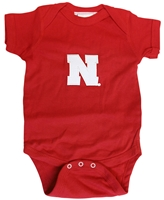 Husker Lap Shoulder Creeper Nebraska Cornhuskers, Nebraska  Infant, Huskers  Infant, Nebraska Infant Lap Shoulder Creeper, Huskers Infant Lap Shoulder Creeper