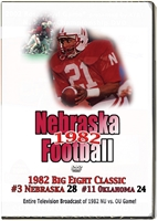 1982 OU Game On Dvd Tv Broadcast Husker football, Nebraska cornhuskers merchandise, husker merchandise, nebraska merchandise, nebraska cornhuskers dvd, husker dvd, nebraska football dvd, nebraska cornhuskers videos, husker videos, nebraska football videos, husker game dvd, husker bowl game dvd, husker dvd subscription, nebraska cornhusker dvd subscription, husker football season on dvd, nebraska cornhuskers dvd box sets, husker dvd box sets, Nebraska Cornhuskers, 1982 Oklahoma game, TV Broadcast