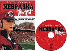 Tom Osborne A&E Dvd Husker football, Nebraska cornhuskers merchandise, husker merchandise, nebraska merchandise, nebraska cornhuskers dvd, husker dvd, nebraska football dvd, nebraska cornhuskers videos, husker videos, nebraska football videos, husker game dvd, husker bowl game dvd, husker dvd subscription, nebraska cornhusker dvd subscription, husker football season on dvd, nebraska cornhuskers dvd box sets, husker dvd box sets, Nebraska Cornhuskers, A&Es Tom Osborne DVD