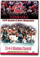 1970 Season Highlights Husker football, Nebraska cornhuskers merchandise, husker merchandise, nebraska merchandise, nebraska cornhuskers dvd, husker dvd, nebraska football dvd, nebraska cornhuskers videos, husker videos, nebraska football videos, husker game dvd, husker bowl game dvd, husker dvd subscription, nebraska cornhusker dvd subscription, husker football season on dvd, nebraska cornhuskers dvd box sets, husker dvd box sets, Nebraska Cornhuskers, 1970 Season Highlights