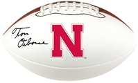 Tom Osborne Signed Husker Football Nebraska Cornhuskers, husker football, nebraska cornhuskers merchandise, husker merchandise, nebraska merchandise, husker memorabilia, husker autographed, nebraska cornhuskers autographed, Tom Osborne autographed, Tom Osborne signed, Tom Osborne collectible, Tom Osborne, nebraska cornhuskers memorabilia, nebraska cornhuskers collectible, Osborne Autographed Ball