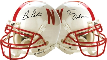 Bo & Tom Signed Full Helmet Nebraska Cornhuskers, husker football, nebraska cornhuskers merchandise, husker merchandise, nebraska merchandise, husker memorabilia, husker autographed, nebraska cornhuskers autographed, Tom Osborne autographed, Tom Osborne signed, Tom Osborne collectible, Tom Osborne, Bo Pelini autographed, Bo Pelini signed, Bo Pelini memorabilia, Pelini and Osborne autographed, Pelini and Osborne signed, nebraska cornhuskers memorabilia, nebraska cornhuskers collectible, Pelini and Osborne Signed Helmet