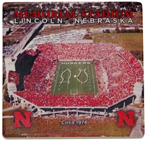 1974 Memorial Stadium Coaster Nebraska Cornhuskers, Nebraska Collectibles, Huskers Collectibles, Nebraska Home & Office, Huskers Home & Office, Nebraska  Game Room & Big Red Room, Huskers  Game Room & Big Red Room, Nebraska  Kitchen & Glassware, Huskers  Kitchen & Glassware, Nebraska  Office Den & Entry, Huskers  Office Den & Entry, Nebraska  Patio, Lawn & Garden, Huskers  Patio, Lawn & Garden, Nebraska 1974 Memorial Stadium Coaster, Huskers 1974 Memorial Stadium Coaster