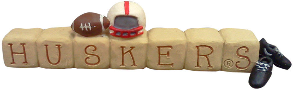 Huskers Blocks with Helmet Decor Nebraska Cornhuskers, Huskers Blocks with Helmet Decor