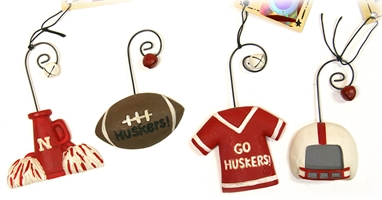 Huskers Christmas Ornaments Set Nebraska Cornhuskers, Nebraska  Holiday Items, Huskers  Holiday Items, Nebraska  Office Den & Entry, Huskers  Office Den & Entry, Nebraska Huskers Christmas Ornaments Set, Huskers Huskers Christmas Ornaments Set