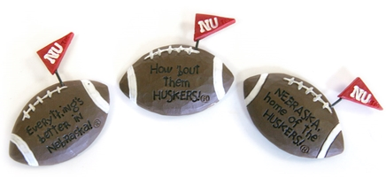 Pennant Football Magnets Set Nebraska Cornhuskers, Nebraska  Kitchen & Glassware, Huskers  Kitchen & Glassware, Nebraska  Office Den & Entry, Huskers  Office Den & Entry, Nebraska Pennant Football Magnets Set, Huskers Pennant Football Magnets Set