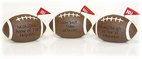 Husker Pennant Footballs Set Nebraska Cornhuskers, Nebraska  Game Room & Big Red Room, Huskers  Game Room & Big Red Room, Nebraska  Office Den & Entry, Huskers  Office Den & Entry, Nebraska Husker Pennant Footballs Set, Huskers Husker Pennant Footballs Set