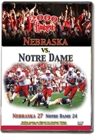 2000 Notre Dame Game Husker football, Nebraska cornhuskers merchandise, husker merchandise, nebraska merchandise, nebraska cornhuskers dvd, husker dvd, nebraska football dvd, nebraska cornhuskers videos, husker videos, nebraska football videos, husker game dvd, husker bowl game dvd, husker dvd subscription, nebraska cornhusker dvd subscription, husker football season on dvd, nebraska cornhuskers dvd box sets, husker dvd box sets, Nebraska Cornhuskers, 2000 Notre Dame Game