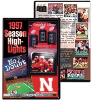 1997 Highlights DVD Husker football, Nebraska cornhuskers merchandise, husker merchandise, nebraska merchandise, nebraska cornhuskers dvd, husker dvd, nebraska football dvd, nebraska cornhuskers videos, husker videos, nebraska football videos, husker game dvd, husker bowl game dvd, husker dvd subscription, nebraska cornhusker dvd subscription, husker football season on dvd, nebraska cornhuskers dvd box sets, husker dvd box sets, Nebraska Cornhuskers, 1997 Highlights DVD